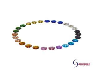 Circle of creation - 27 wheels van Ascension die de totale scheppingsenergie vertegenwoordigen