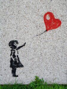 Loslaten ballon hart