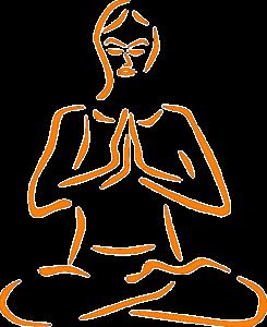 Meditatie houding boeddha