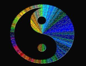 Yin yang kleur