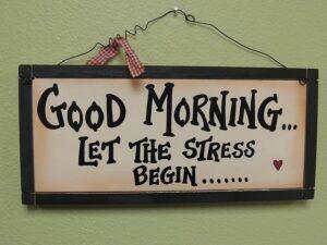 Stress begint