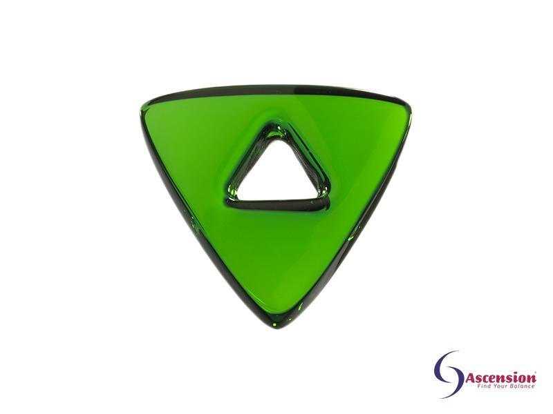 Groene light - straal 5 - geënergetiseerd glazen tool driehoek van Ascension
