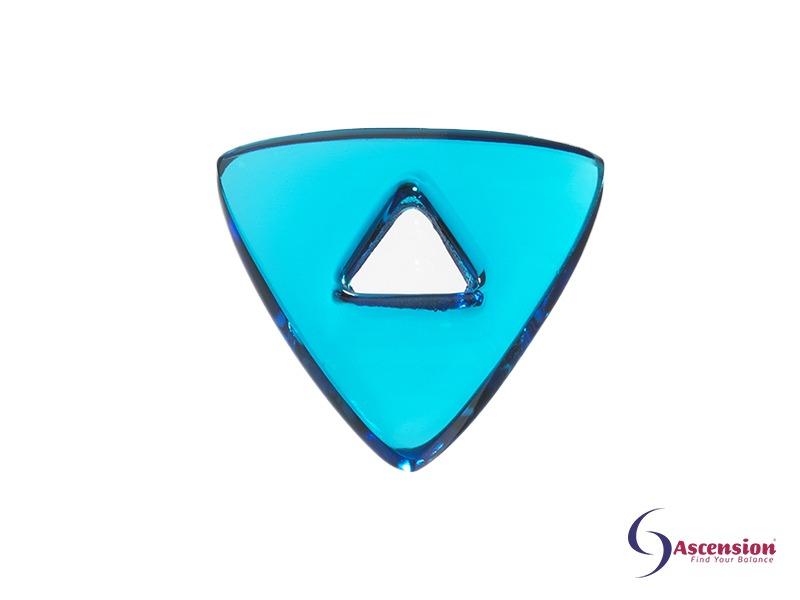 aquamarijne light - straal 8 - geënergetiseerd glazen tool driehoek van Ascension