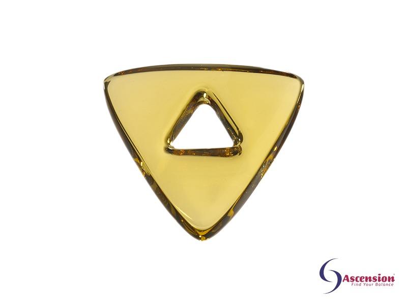Lichtgele light - straal 2 - geënergetiseerd glazen tool driehoek van Ascension