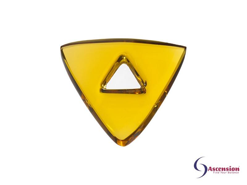 Goudkleurige light - straal 10 - geënergetiseerd glazen tool driehoek van Ascension