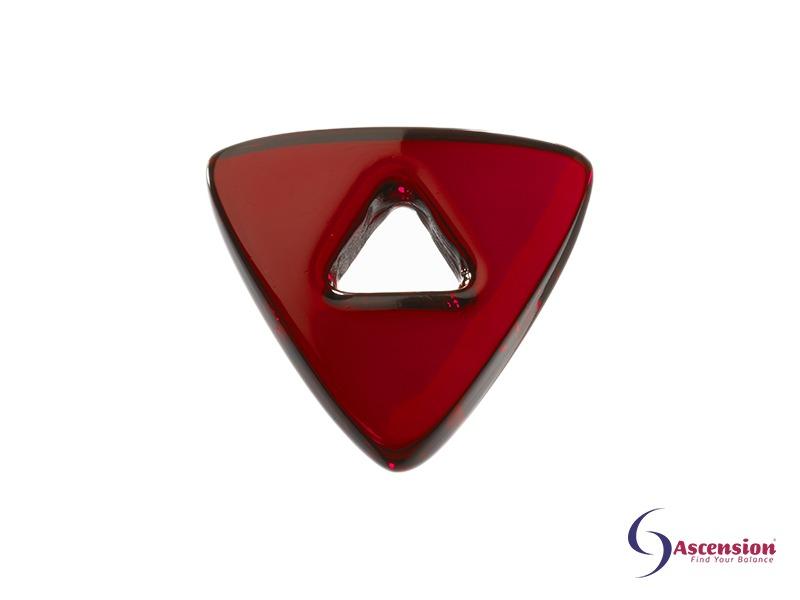 Robijnrode light - straal 6 - geënergetiseerd glazen tool driehoek van Ascension