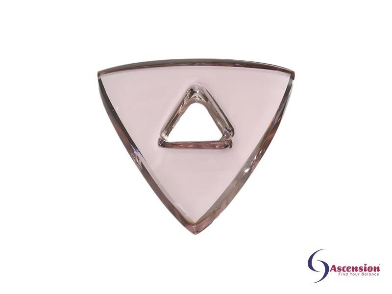 Roze light - straal 3 - geënergetiseerd glazen tool driehoek van Ascension