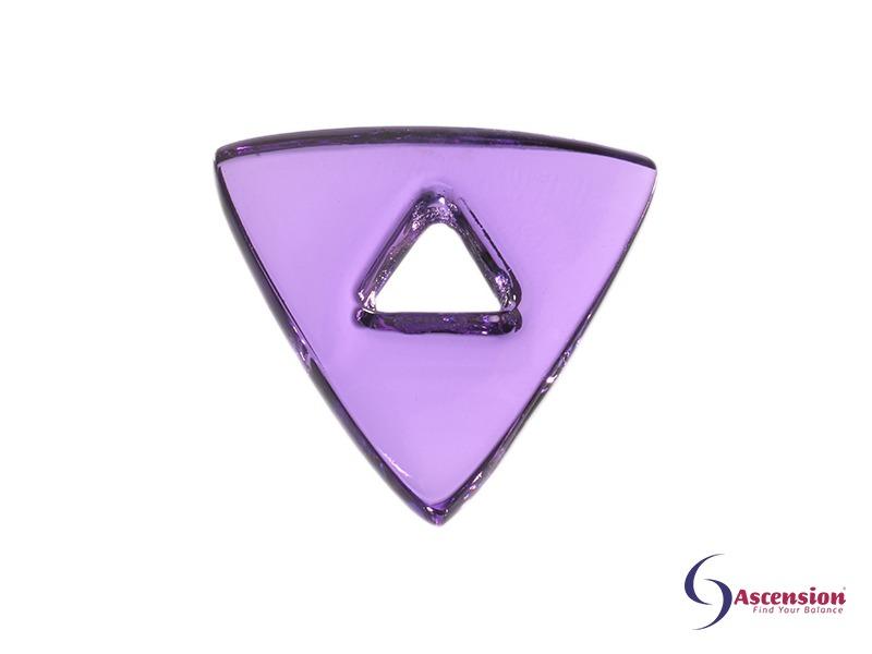 Violette light - straal 7 - geënergetiseerd glazen tool driehoek van Ascension