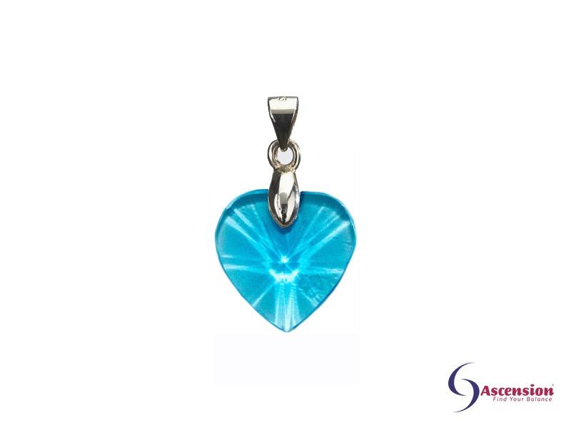 Aquablauwe geënergetiseerd hartje van Ascension