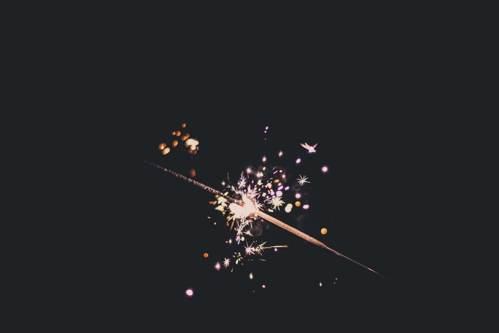 licht donker vuurwerk