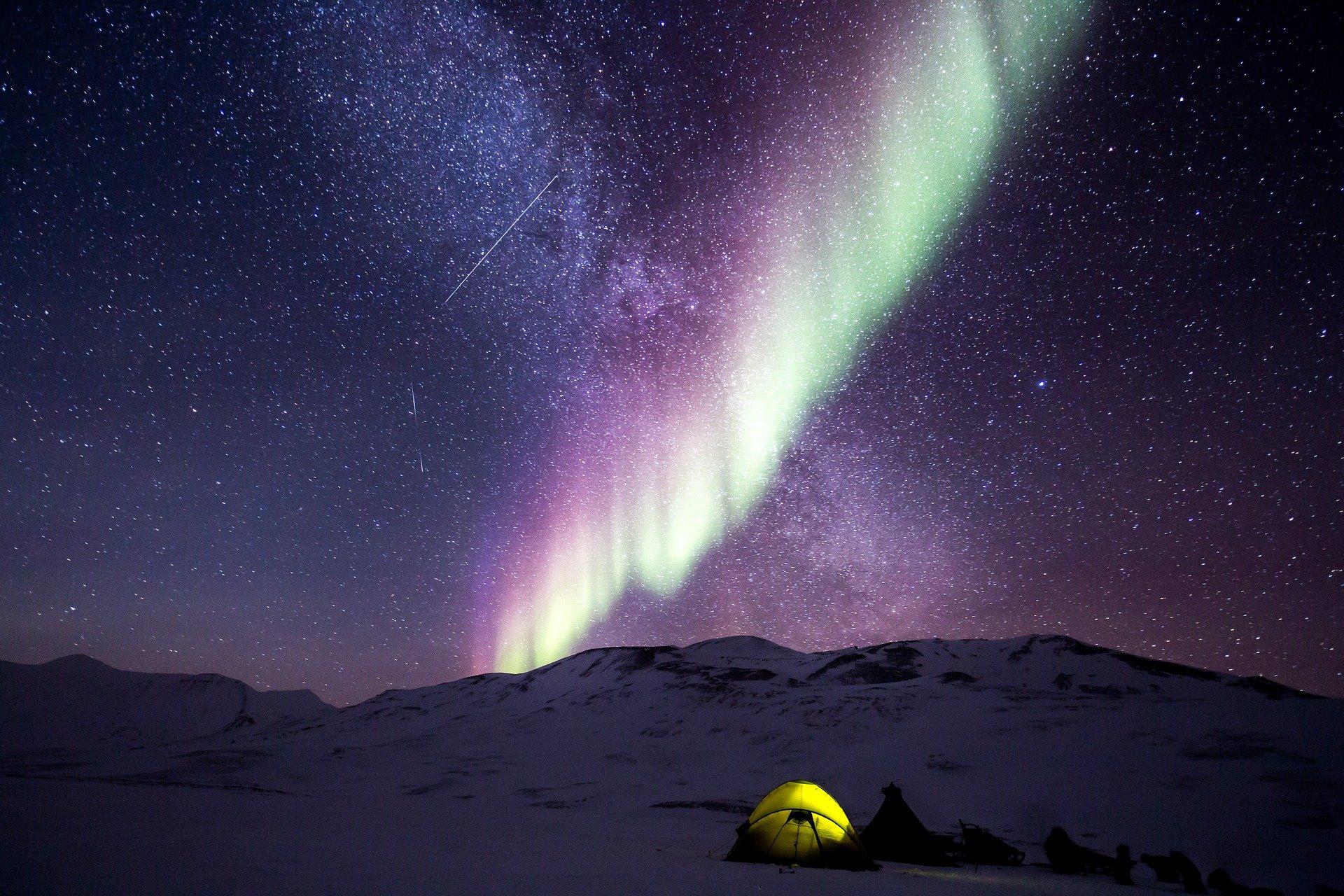 noorderlicht lichtstralen